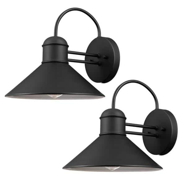 Globe Electric Sebastien 1 Light Black, Home Depot Outdoor Wall Lighting Black