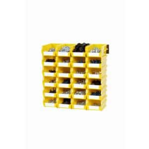 17 in. H x 17 in. W x 5 in. D Yellow Plastic 24-Cube Storage Organizer