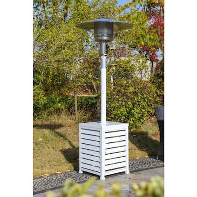 48,000 BTU White Square Blind Gas Patio Heater