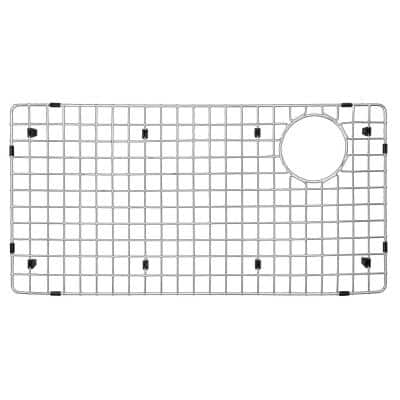 27-3/4 in. x 13-3/4 in. Stainless Steel Bottom Grid Fits on QT-722 and QU-722
