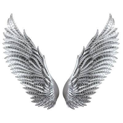 Chic Silver Wings Mixed Metal Media Wall Art