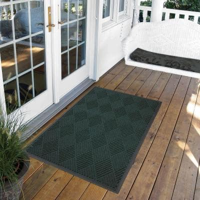 Opus Green 48 in. x 120 in. Rubber-Backed Entrance Mat