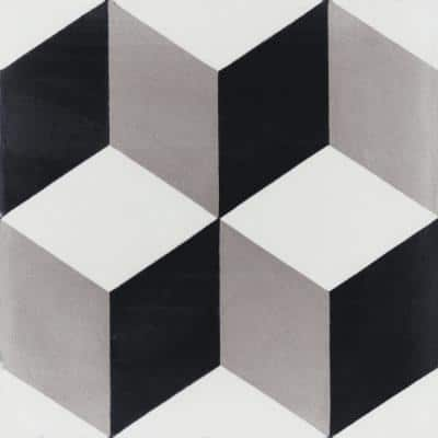 Cubes A Sencillo 8 in. x 8 in. Cement Handmade Floor and Wall Tile (Box of 16/ 6.96 sq. ft.)