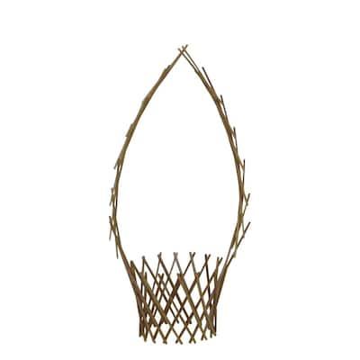 Peeled Willow 48 in. H x 12 in. W Basket Trellis