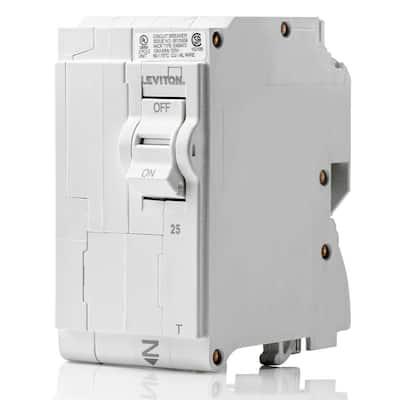 Branch Circuit Breaker, Standard 2-Pole 25 Amp, 120-Volt/240-Volt, Thermal Magnetic