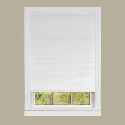 Honeycomb White Cordless Top Down Bottom Up Light Filtering Polyester Cellular Shade 33 in. W x 64 in. L