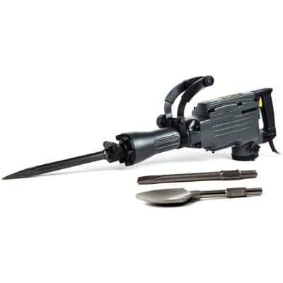 1-1/5 in. 11 Amp 31 lbs. Demolition Jack Hammer with Point, Flat and Spade Chisels