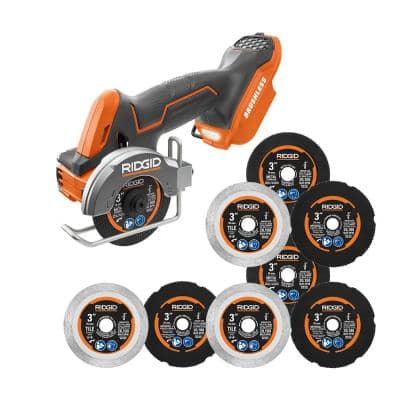 18V SubCompact Brushless Cordless 3 in. Multi-Material Saw (Tool Only) with (9) Cutting Wheels