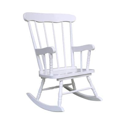 White Rocking Kids Chair