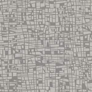 Tiffany Grey Abstract Geometric Grey Vinyl Strippable Roll (Covers 60.8 sq. ft.)