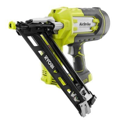 ONE+ 18V Lithium-Ion Cordless AirStrike 15-Gauge Angled Finish Nailer (Tool Only) with Sample Nails