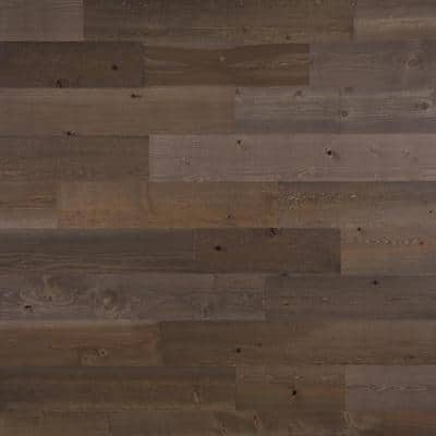 1/8 in. x 5 in. x 12-42 in. Peel and Stick Brown Wooden Decorative Wall Paneling (40 sq. ft./Box)