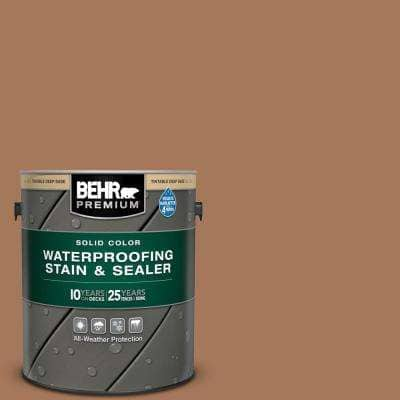 1 gal. #SC-146 Cedar Solid Color Waterproofing Exterior Wood Stain and Sealer