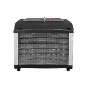 6-Tray Black Food Dehydrator with Adjustable Time and Temperature
