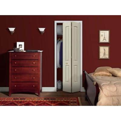 30 in. x 80 in. Continental Primed Smooth Molded Composite MDF Closet Bi-fold Door