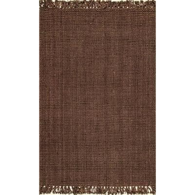 Natura Chunky Loop Jute Chocolate 6 ft. x 9 ft. Area Rug