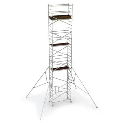 24 ft. x 5.4 ft. x 2.6 ft. Easy-Set Scaffold Tower 800 lbs. Load Capacity