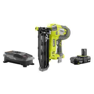 ONE+ 18V AirStrike 16-Gauge Cordless Straight Finish Nailer Kit with ONE+ 2.0 Ah Lithium-Ion Battery and Charger