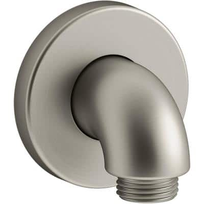 Purist Stillness Wall-Mount Supply Elbow with Check Valve in Vibrant Brushed Nickel