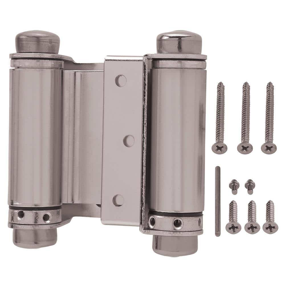 Everbilt 10 in. Square Satin Nickel Double Action Spring Door Hinge 10    The Home Depot