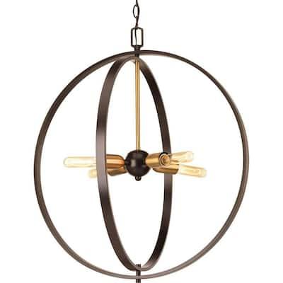 Swing 4-Light Antique Bronze Foyer Pendant