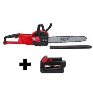M18 FUEL 18-Volt Lithium-Ion Brushless Cordless 16 in. Chainsaw W/ M18 5.0Ah Battery