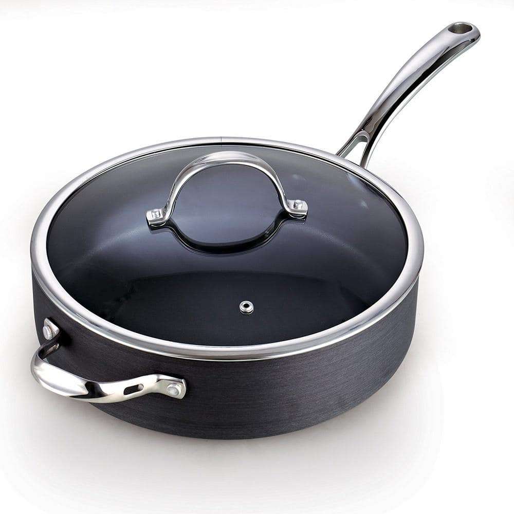 Smart Cook No Coating Nonstick Saute Pan with lid Titanium 82035 Dishwasher Safe 10-Inch