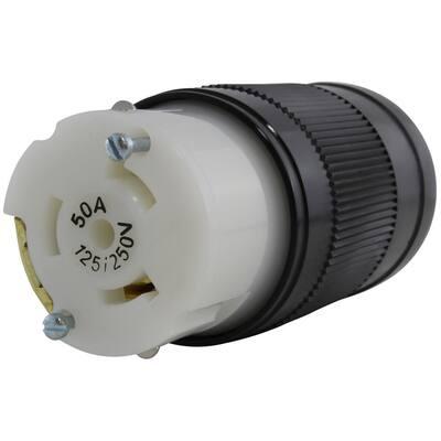 50 Amp 125/250-Volt 4-Prong Locking Female Connector