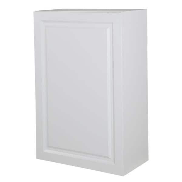 Hampton Bay Benton Assembled 24x36x12 5 In Wall Cabinet In White Bt2436w Wh The Home Depot