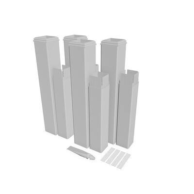 24 in. White Vinyl Pergola Post Extension Kit (Pack of 4)