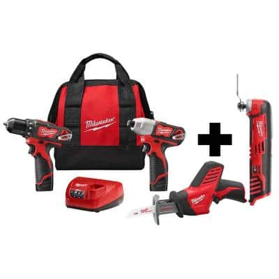 M12 12-Volt Lithium-Ion Cordless Combo Kit (3-Tool) with M12 Multi-Tool