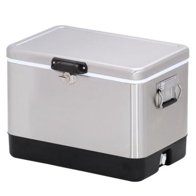 1 ft. 2.5 in. x 1 ft. 10.5 in. 54 qt. Stainless Steel Cooler