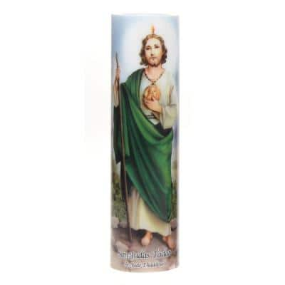 8 in. St. Jude LED Prayer Candle