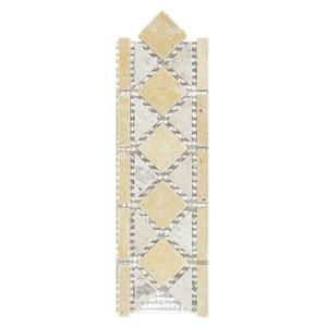 Venezia Beige/Cream 3 in. x 12 in. x 8 mm Travertine Decorative Accent Floor/Wall Tile