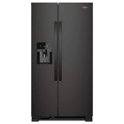 25 cu. ft. Side by Side Refrigerator in Black