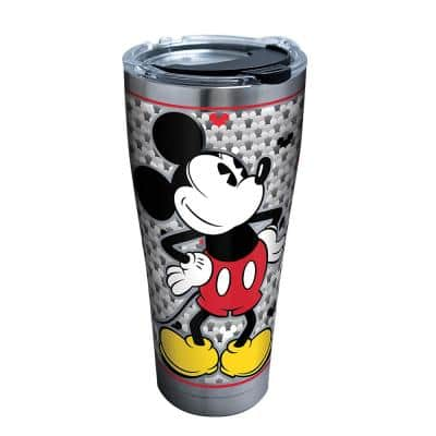 Disney Silver Mickey 30 oz. Stainless Steel Tumbler with Lid