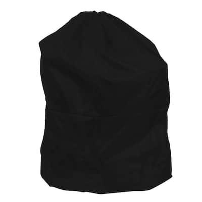 Jumbo Sized Nylon Laundry Bag in Black