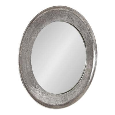 Xylon 25 in. x 25 in. Classic Round Framed Silver Wall Mirror