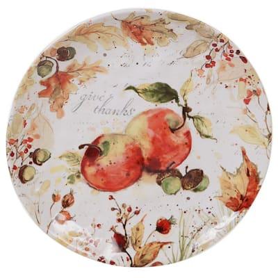 Harvest Splash Multi-Colored 13 in. Round Platter