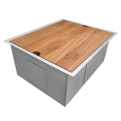 23 in. x 19 in. x 13 in. Single Bowl Undermount Laundry Utility Workstation Sink