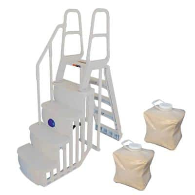 Step and Ladder System Plus 2 Sand Weights for Above Ground Pool