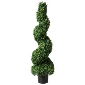 50 in. Artificial Boxwood Spiral Topiary Tree