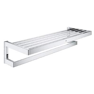 Selection Cube 1-Bar Towel Rack in StarLight Chrome