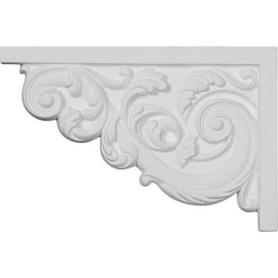 5/8 in. x 11-3/8 in. x 7-5/8 in. Polyurethane Left Large Ashford Stair Bracket Moulding