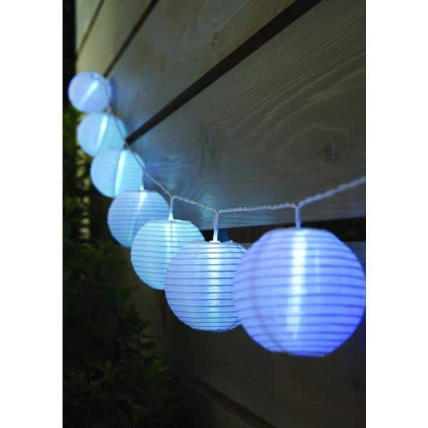 Lot of 3 New Holiday Time 10 LED Multicolor GLOBE Lights battery 4 ft long