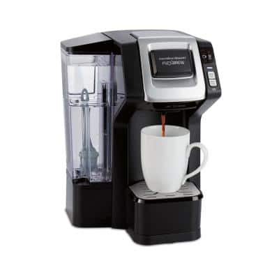 Connected FlexBrew 1-Cup Single Serve Black Coffeemaker with HB Connect App