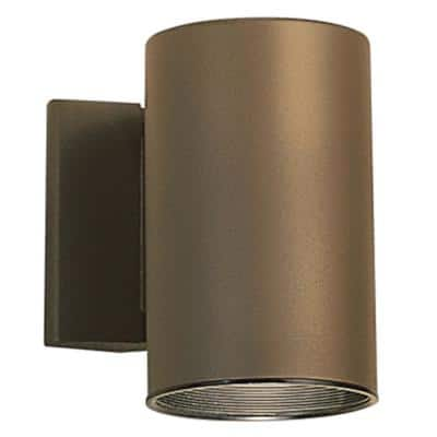 Independence 7 in. 1-Light Architectural Bronze Outdoor Wall Mount Sconce