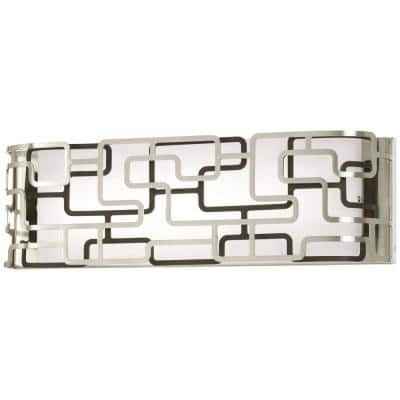 Alecia's Tiers Brushed Nickel LED Vanity Light Bar