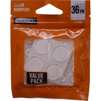Assorted Self-Adhesive Round Clear Surface Bumpers (36 per Pack)