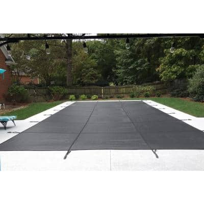 20 ft. x 40 ft. Solid Gray Rectangle Inground Pool Safety Cover